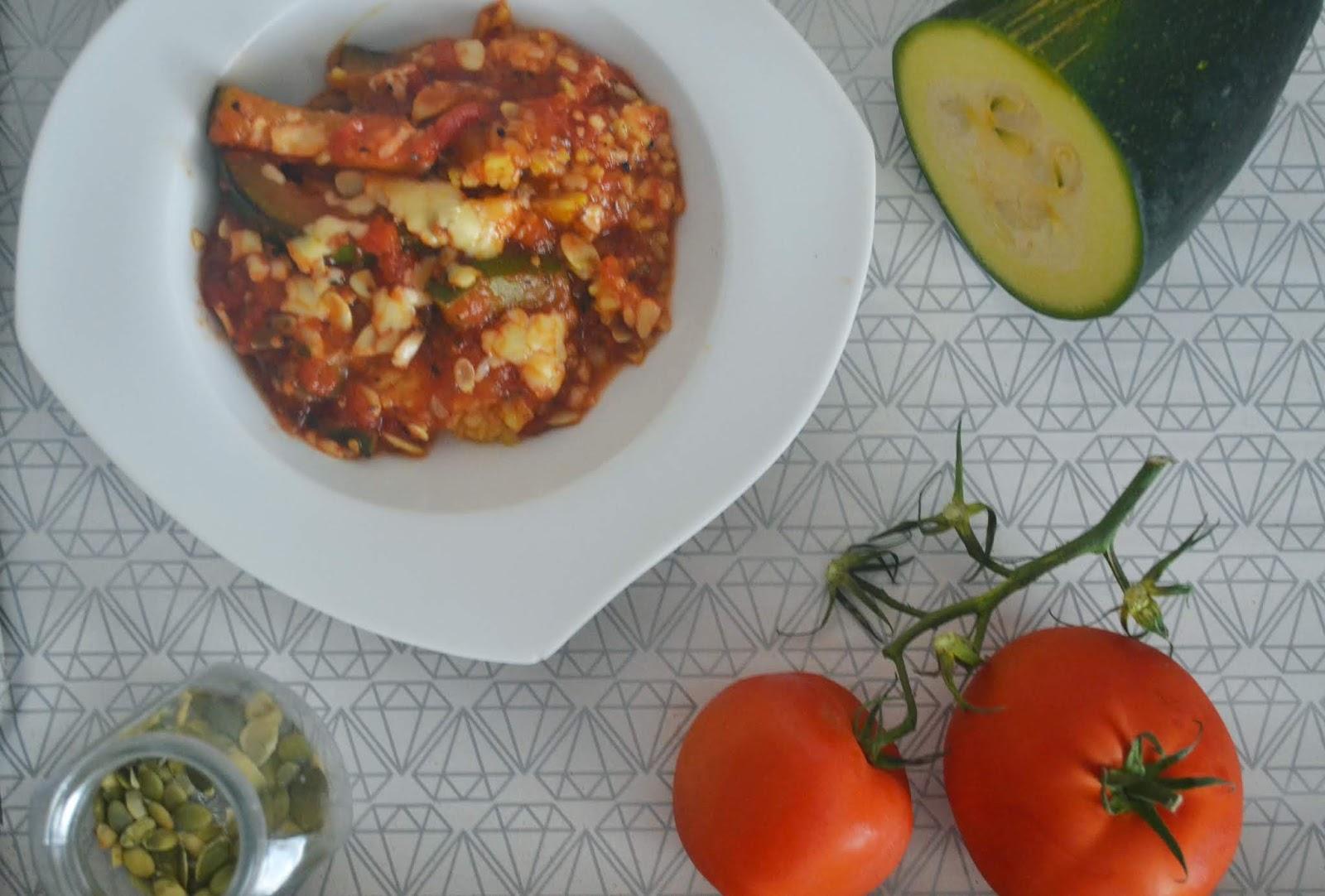 [Przepis] Zapiekanka ryżowa z cukinią i pomidorami Low Fodmap